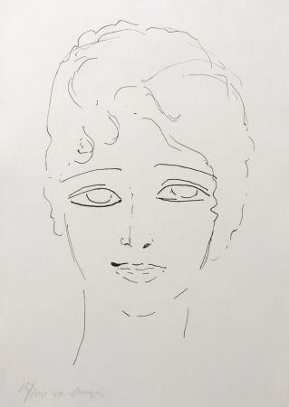 リトグラフ Van Dongen - Tete de Femme
