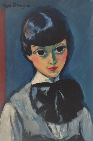 木版 Van Dongen - Tete de Femme (Claudine)