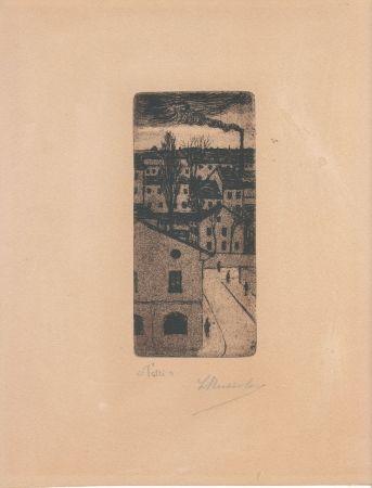 彫版 Russolo - TETTI (Roofs)