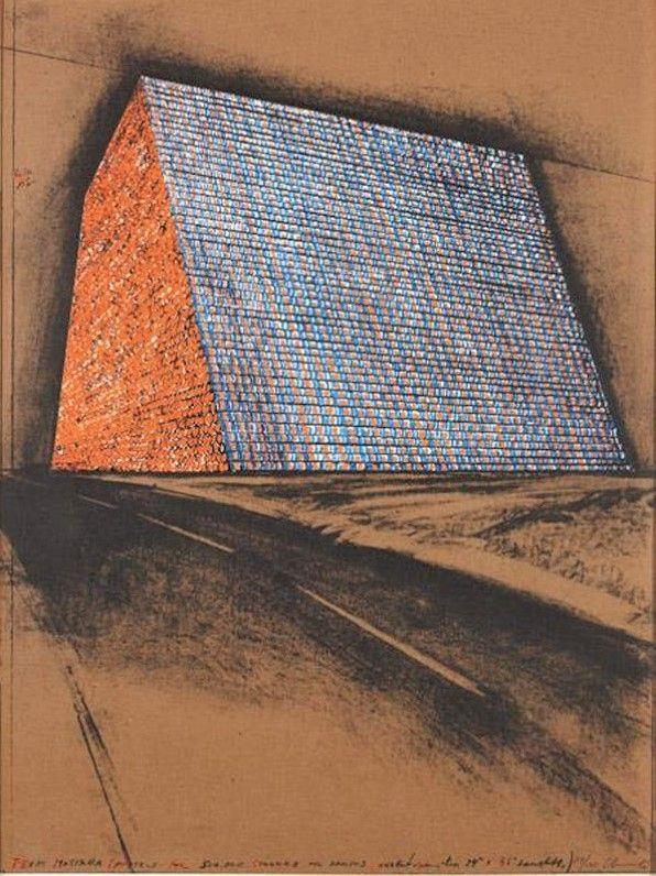 多数の Christo - Texas Mastaba, Project for 500,000 stacked oil drums
