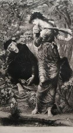 エッチング Burne-Jones - The Beguiling of Merlin