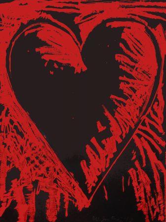 木版 Dine - The Black and Red Heart
