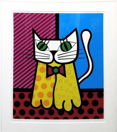 シルクスクリーン Britto - THE CAT