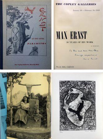 エッチング Ernst - The Copley Galleries. At Eye Level. Paramyths. Max Ernst, 30 years of his work.