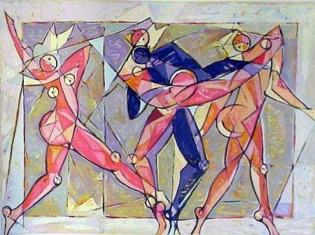 リトグラフ Kahn - The Dance