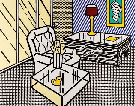 木版 Lichtenstein - The Den, from Interior Series