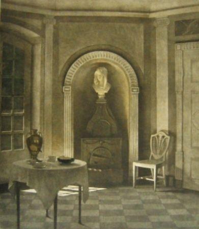 メゾチント彫法 Ilsted - The dining room at Liselund