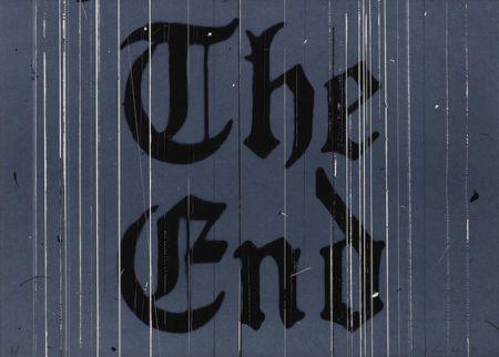 リトグラフ Ruscha - The End