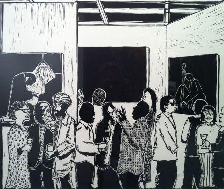 リノリウム彫版 Nhlengethwa - The Exhibition Launch
