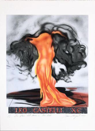 リトグラフ Rosenquist - The Flame Still Dances on Leo's Book (not in Glenn) from the portfolio of Leo Castelli's 90th Birthday