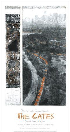 オフセット Christo - THE GATES -  Signed Poster