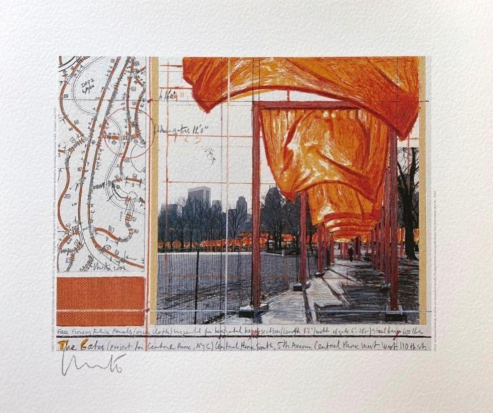 リトグラフ Christo - The Gates (a)