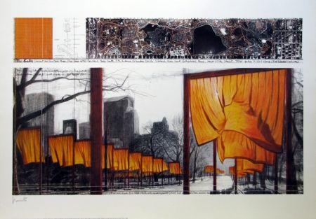リトグラフ Christo & Jeanne-Claude - The Gates, Project for Central Park, New York
