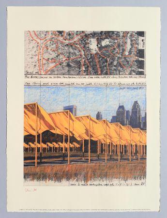 リトグラフ Christo - 'The Gates, project for Central Park New York City