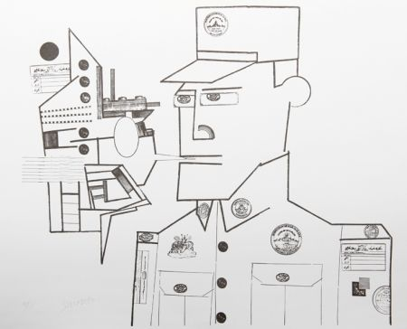リトグラフ Steinberg - The General from the Peace Portfolio