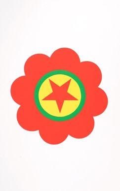 シルクスクリーン Apfelbaum - The Kurdistan's worker party