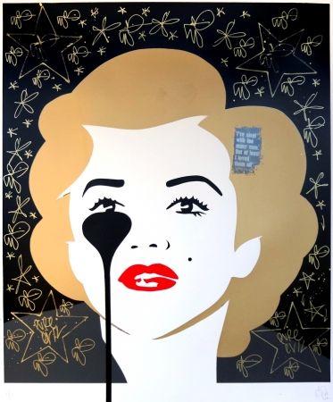 シルクスクリーン Pure Evil - The last Marilyn (golden scratching)