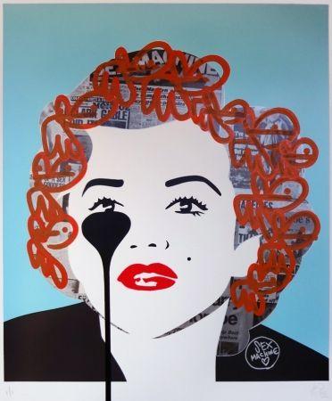 シルクスクリーン Pure Evil - The last Marilyn (orange fizz)