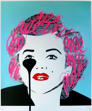 シルクスクリーン Pure Evil - The last Marilyn (pink tags)