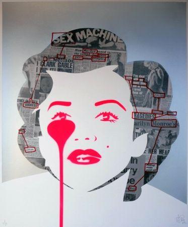 シルクスクリーン Pure Evil - The last Marilyn (ransom note messages)