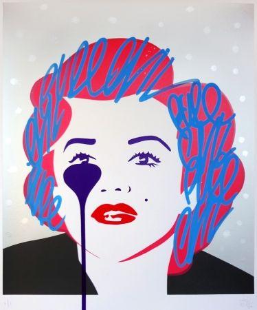 シルクスクリーン Pure Evil - The last Marilyn (silver dots)