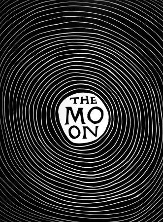 リノリウム彫版 Shrigley - The Moon