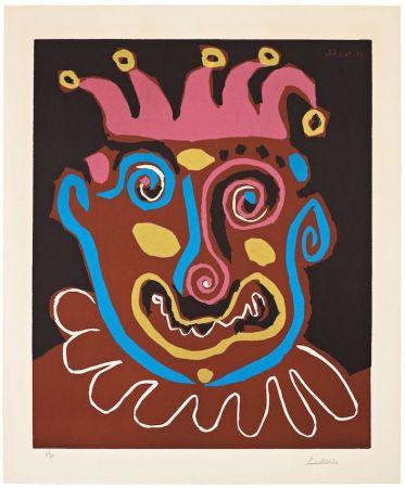 リノリウム彫版 Picasso - The old king