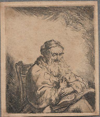 彫版 Bol - The Old Man with a Leaf of Trefoil on His Coat