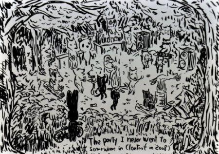 リトグラフ Kaga - The party I never went to...