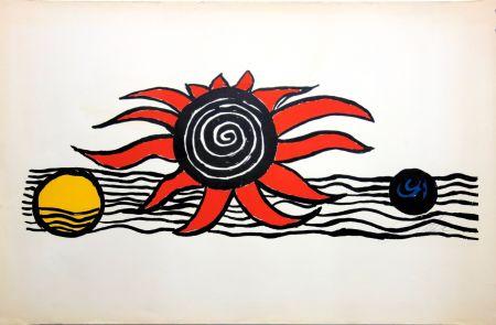 リトグラフ Calder - The red sun