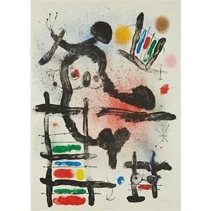 リトグラフ Miró - The Slingshot Bird