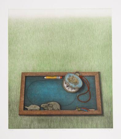 メゾチント彫法 Hwang - The Tortoise and the Hare