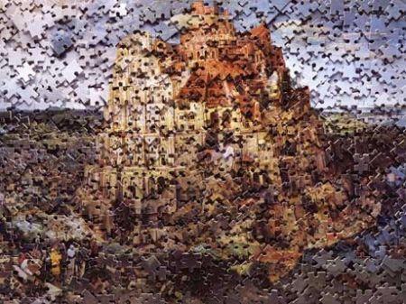 多数の Muniz - The Tower of Babel, after Pieter Breugal