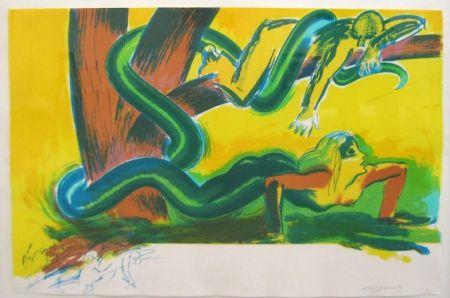 リトグラフ Jones - The tree