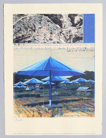 リトグラフ Christo - The umbrellas, joint project for Japan and USA