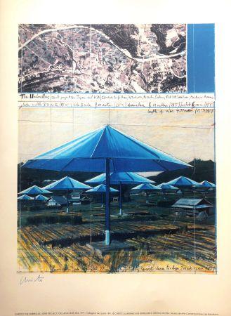 リトグラフ Christo - THE UMBRELLAS MACBA BARCELONA 56X76