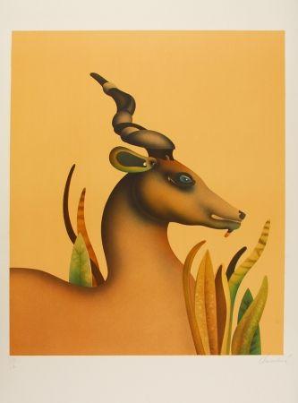 リトグラフ Donadini - The Unicorn / La licorne