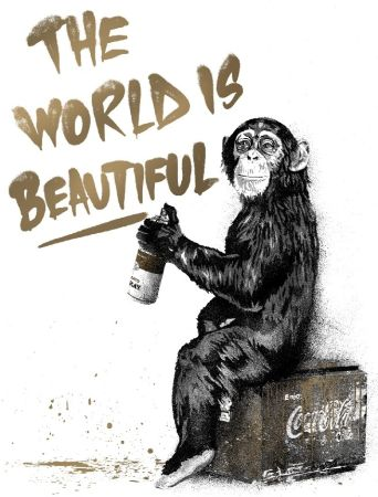 シルクスクリーン Mr Brainwash - The World Is Beautiful