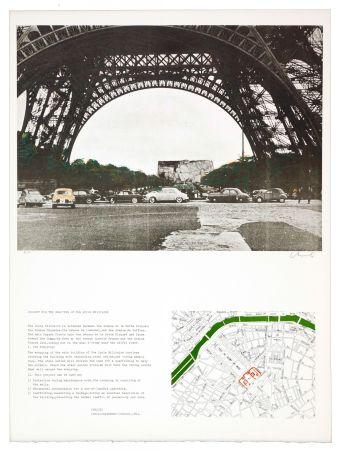 リトグラフ Christo - The wrapping of the Ecole militaire