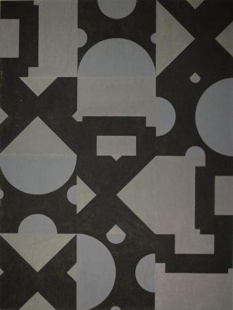 モノタイプ Bosshard - Thema Kreis, Quadrat, Dreieck in Schwarz und Grau