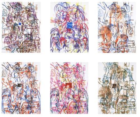 リトグラフ Salle - Theme for an Aztec Moralist Portfolio