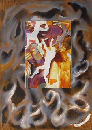 リトグラフ Chia - Three Figures in Abstract