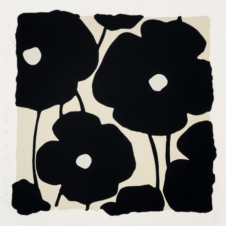 シルクスクリーン Sultan - Three Poppies (Black)
