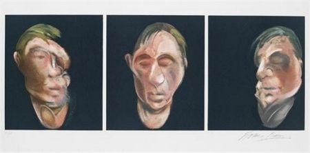 リトグラフ Bacon - Three Studies for a Self Portrait