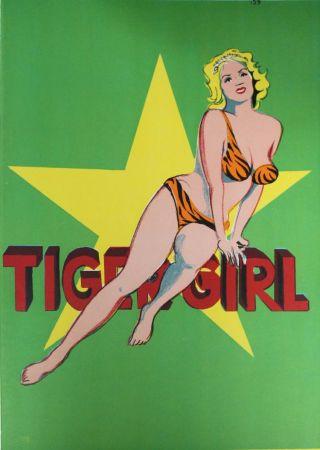 リトグラフ Ramos - Tiger Girl