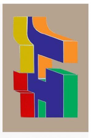 シルクスクリーン Chryssa - Times Square Fragment #10