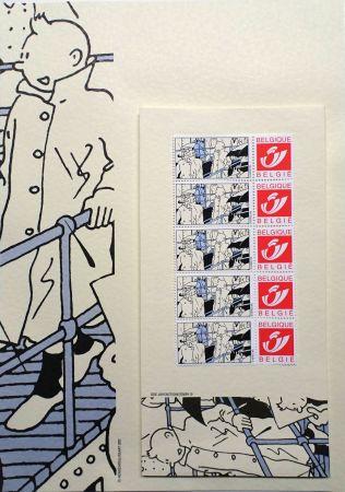 オフセット Rémi - Tintin (Hergé) Kits d'écriture BATEAU & Timbres Belge