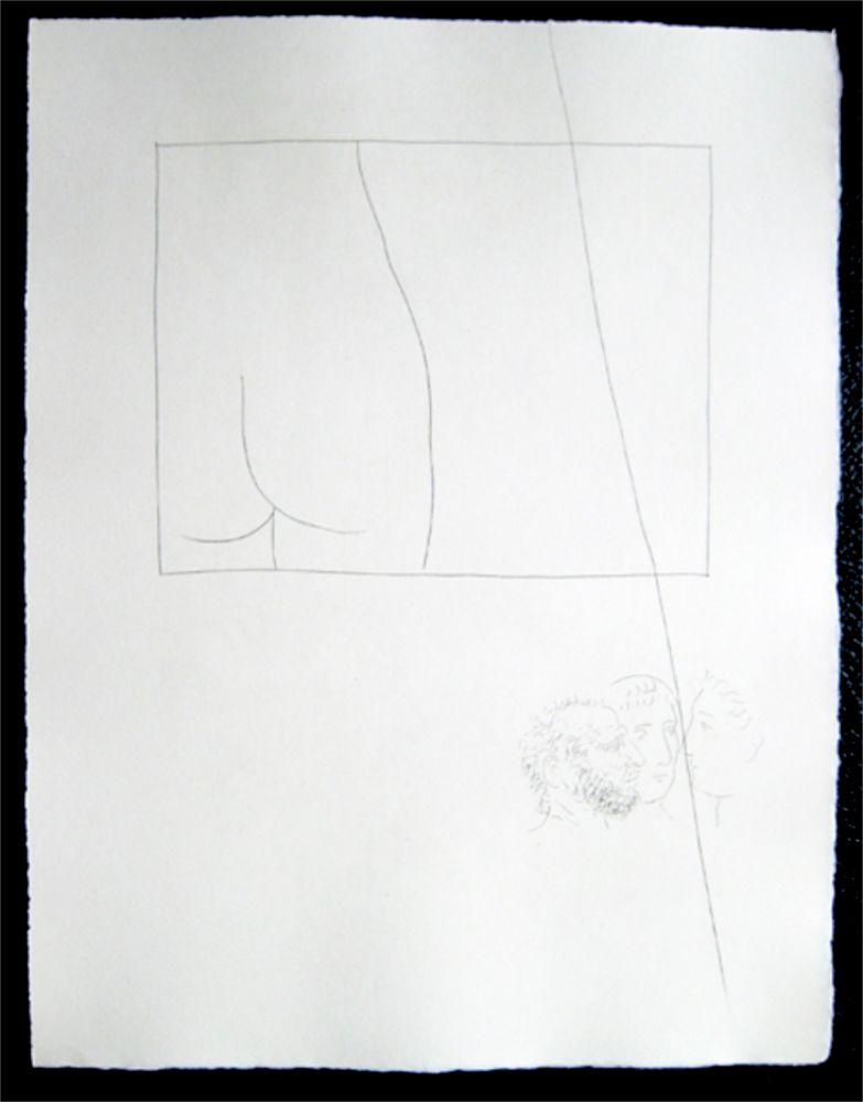 彫版 Picasso - Title:Fragment de corps de femme  Fragment of a woman's body