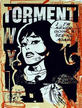 シルクスクリーン Faile - Torment in Orange