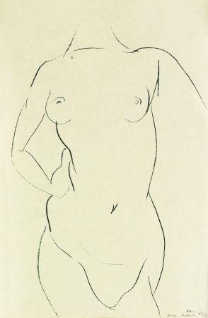 リトグラフ Matisse - Torse de face